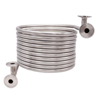 New 1.5TC Stainless Steel Counterflow Wort Chiller Beer Brewing Homebrew Beer & Wine Making Brewing Equipment