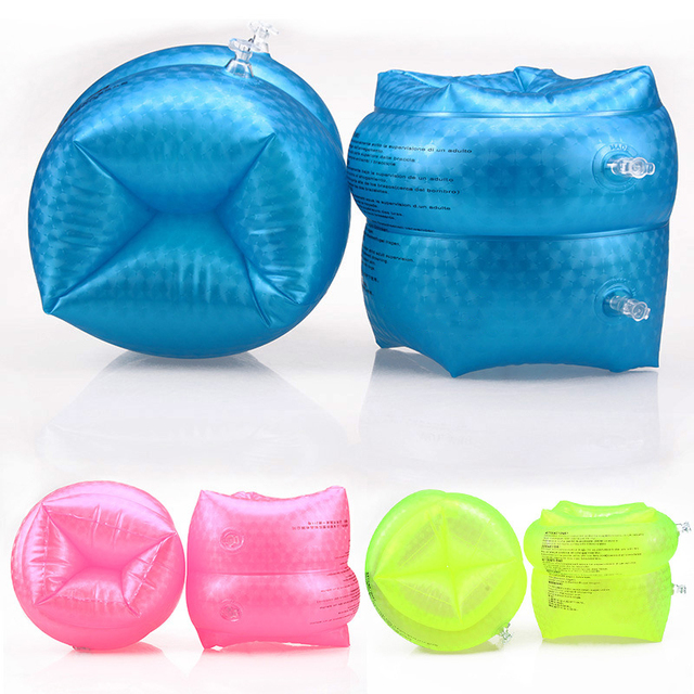2Pcs PVC Swimming Inflatable Ring Arm Sleeve Circle Pool Float For Adult Safety Swim Trainer Swimming Accessories