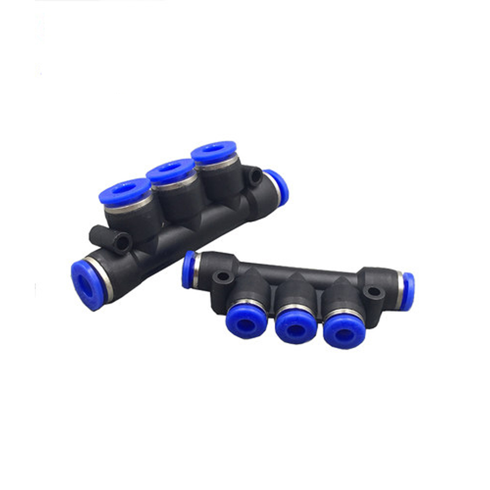 4mm 6mm 8mm 10mm 12mm OD Air Pneumatic Fitting 5 Way One Touch Hose Tube Push In 5 Port Gas Quick Fittings Connector Coupler in Pneumatic Parts from Home Improvement