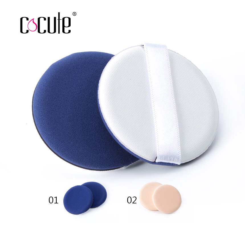 Cocute 2pcs/lot Flat Air Cushion Makeup Sponge Foundation Powder Dry/Wet Make Up BB Cream Cosmetic Puff Pressed Concealer Soft