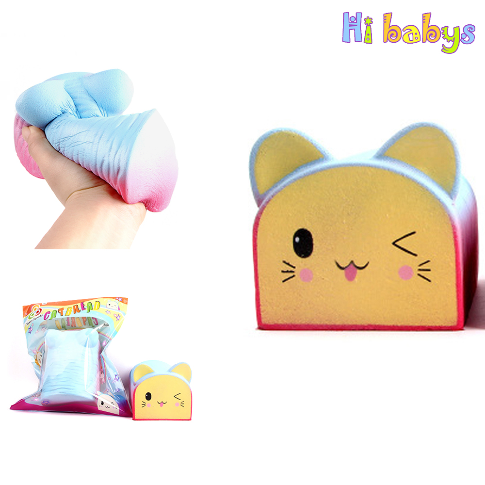 Squishe Antistress  Smooshy Mushy Squeeze Bear Toast Toy Slow Rising Stress Giant Squishy Time Killing Gadget Child Adult Toys gadget