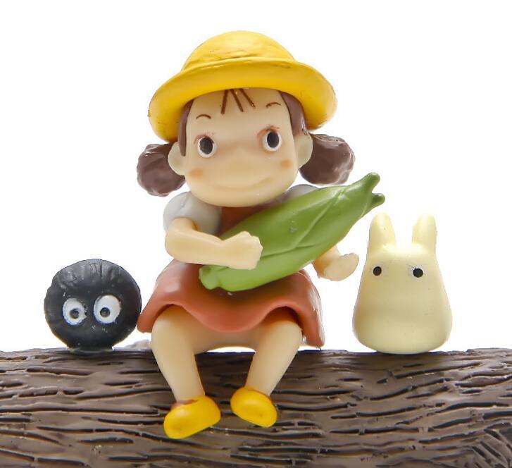 3 unids/lote Miyazaki Hayao mi vecino Totoro Mei polvo de hadas Mini figuras PVC