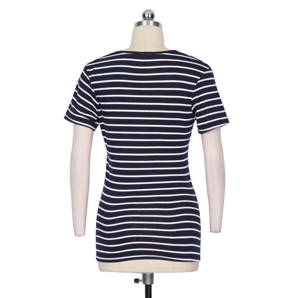 HTB1GtBXOpXXXXXWXVXXq6xXFXXXa - FREE SHIPPING Women Cotton T Shirts Short Sleeve Striped JKP131