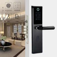 Cerradura de huella Digital biométrica inteligente YOHEEN con contraseña Digital RFID tarjeta llave electrónica inteligente cerradura de puerta de huella Digital
