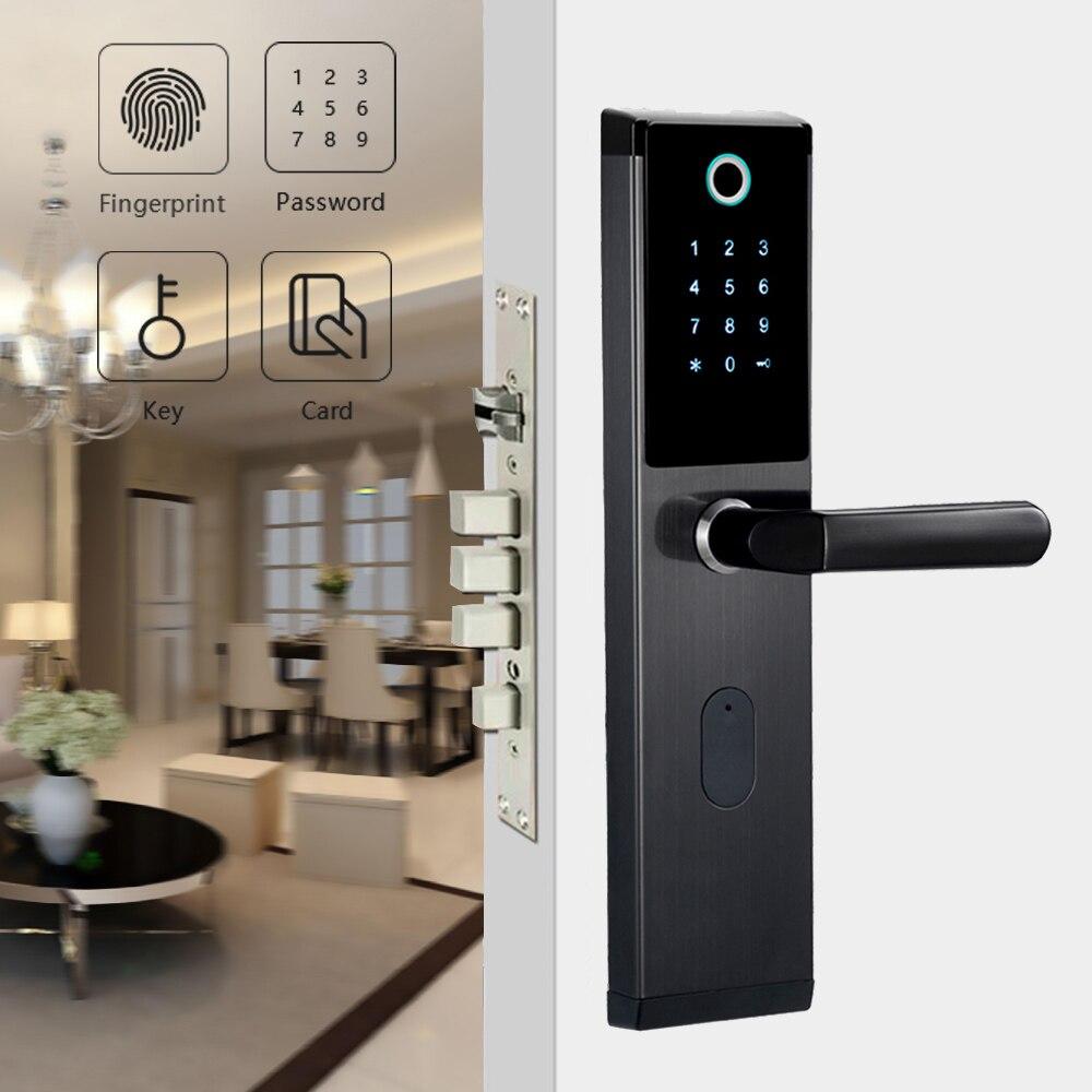 YOHEEN Inteligente Biométrico de impressões digitais Fechadura com Senha Digital de Chave De Cartão RFID Inteligente Eletrônico Fechadura Da Porta de Impressão Digital