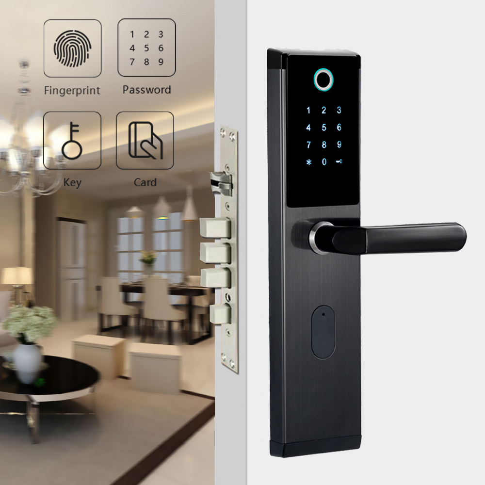 YOHEEN inteligentne biometryczne Blokada z użyciem linii papilarnych z cyfrowe hasło karty RFID klucz elektroniczny inteligentny zamek do drzwi z czytnikiem linii papilarnych w Zamki elektryczne od Bezpieczeństwo i ochrona na AliExpress - 11.11_Double 11Singles' Day 1