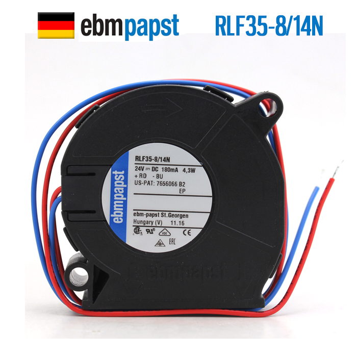 NEW ebmpapst PAPST RLF35-8/14N 51*15 24V0.18A double ball bearing turbine turbo Blower cooling fan new ebmpapst papst qg030 303 14 24v 0 36a cross flow fan centrifugal cooling fan
