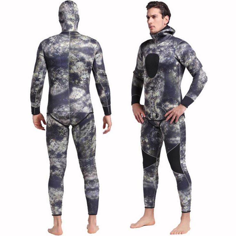 Men's Neoprene 3mm Scuba Dive Wetsuit Spearfishing Wet Suit Surfing Diving Swimming Equipment Spear Fishing Jumpsuit Accessories spearfishing wetsuit 3mm neoprene scuba diving suit snorkeling suit triathlon waterproof keep warm anti uv fishing surf wetsuits