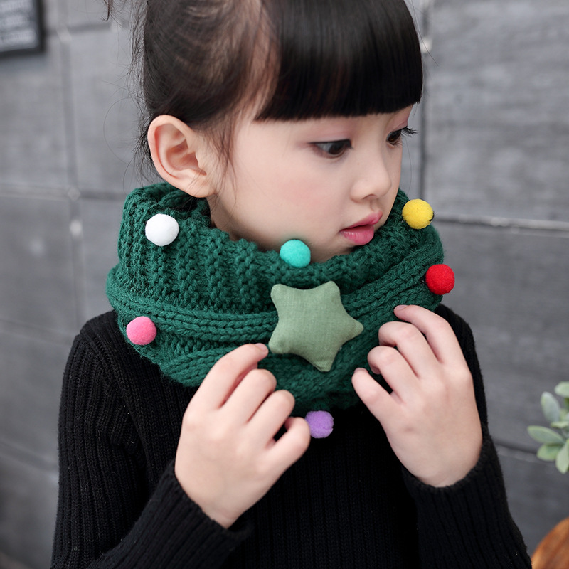 Apparel Accessories New Winter Warm Boys Girls Collar Baby Scarf Children Stars O Ring Neck Scarves Kids Scarf Warm And Windproof