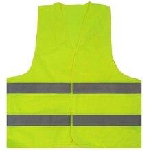 10 шт. зеленый светоотражающий жилет высокой видимости с Hi Vis Серебристая полоска для мужчин и женщин работа Строительство Велоспорт Бег C