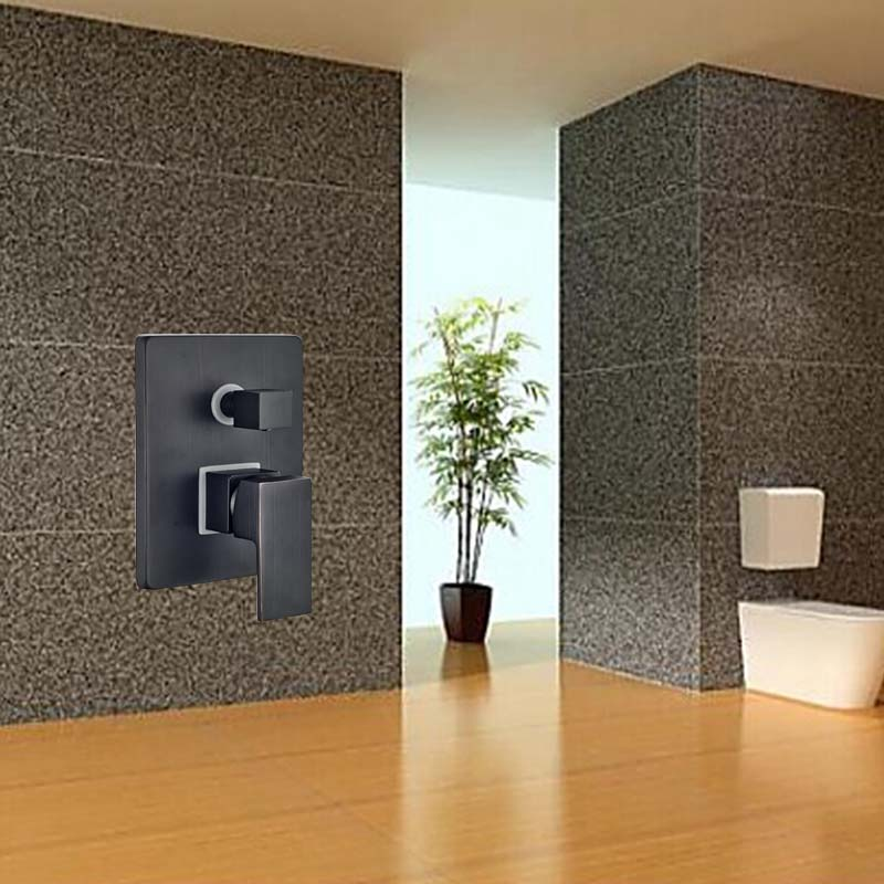 Wholesale And Retail Luxury Modern Wall Mounted Shower Valve Single Handle Diverter Oil Rubbed Bronze 3 Ways Shower Mixer Valve wholesale and retail contemporary oil rubbed bronze led waterfall