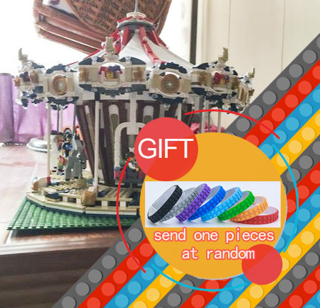 New bricks City Sreet Ceator Carousel Model Building Kits Mini  Toy Compatible with 10196 DECOOL 15013A 15013    toys lepin lepin 15013 city sreet carousel model building kits blocks toy compatible 10196 with funny children educational lovely gift toys