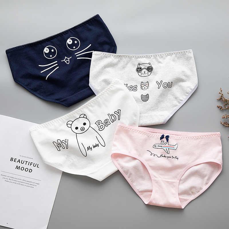 c1270bfc9 Aprmhisy 2018 New Cotton Panties Women Lovely Seamless Letter Print Soft  Comfort Lingeries Girls Ladies Briefs