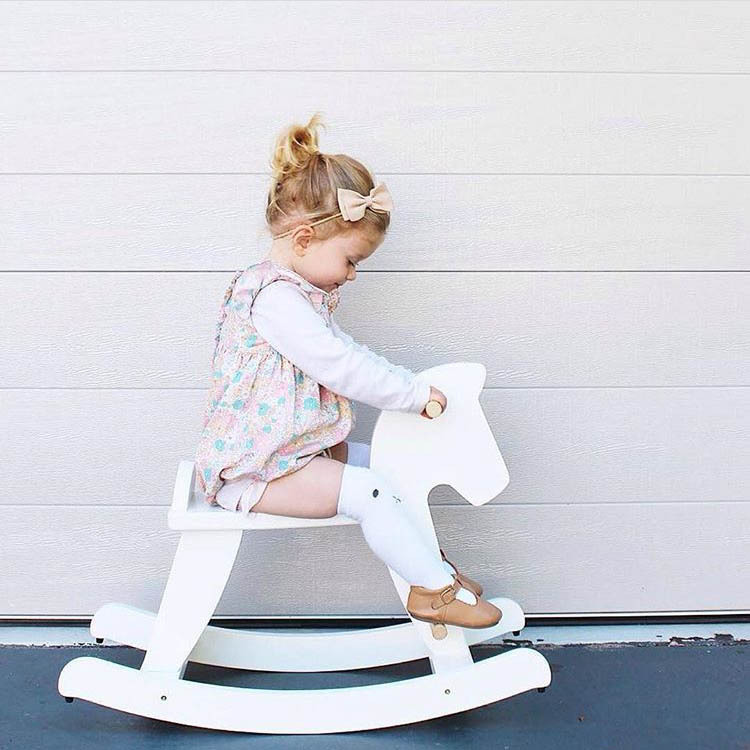 Nordic Style Wooden Trojan Horse Rocking Horses Model House Furniture Chair Play Game Toys For Girls Kids Xmas Gifts IdeasNordic Style Wooden Trojan Horse Rocking Horses Model House Furniture Chair Play Game Toys For Girls Kids Xmas Gifts Ideas