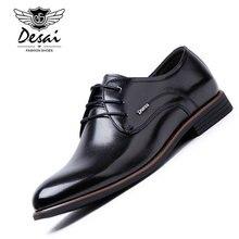 DESAI Brand Genuine Leather Men Shoes 2017 New Arrival Business Dress Shoes Men Falts High Quality