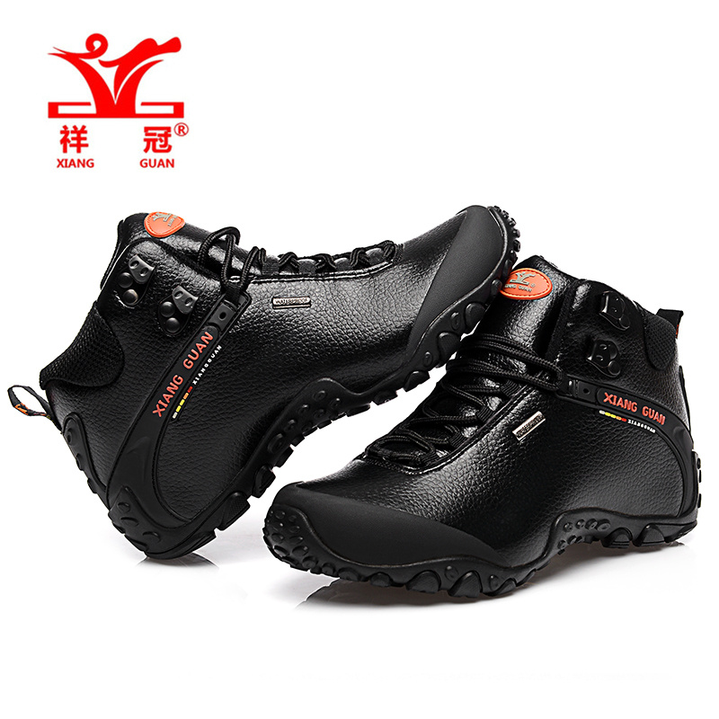 Original Outdoor Waterproof Hiking Shoes Women Climbing Walking Camping Brand Mountain climbing boots black botas de