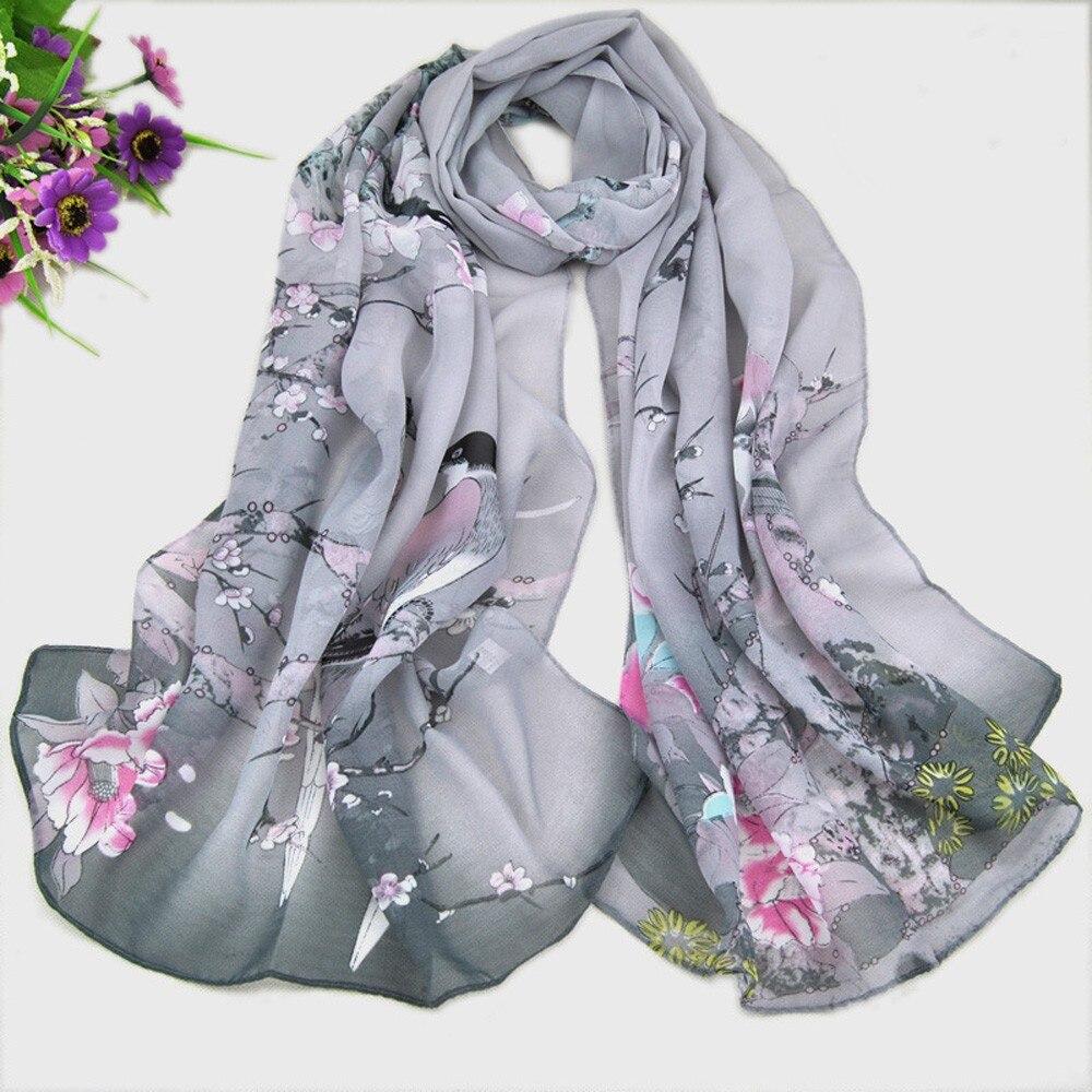 MUQGEW 2017 brand women silk   scarf   fashion Fashion Women Long Leopard Shade Shawl   Scarf     Wrap   Chiffon   Scarves