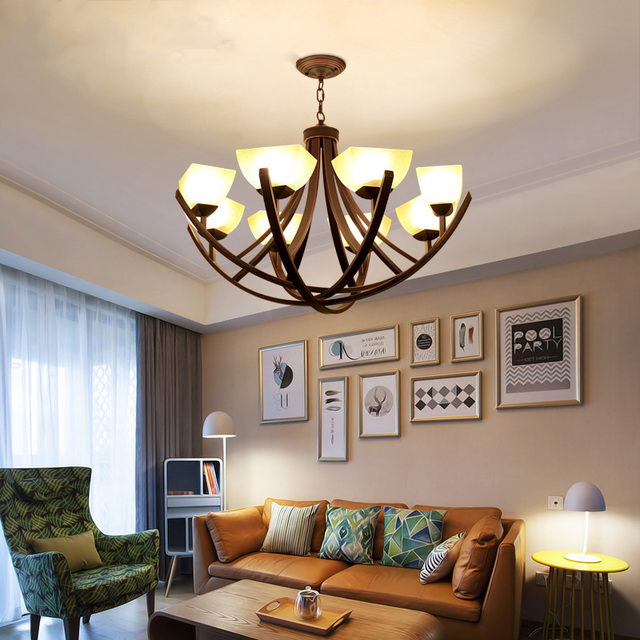 American style chandeliere27 led lights country living room lamp american style chandeliere27 led lights country living room lamp retro wrought iron aloadofball Image collections