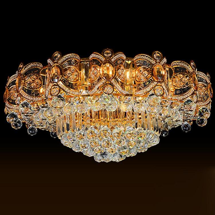 Moderne Lampade A Soffitto di Cristallo HA CONDOTTO LA Lampada Oro Soffitto Apparecchio di Illuminazione bianco Caldo Bianco Freddo Bianco Neutro 3 Colori Mutevoli - 3
