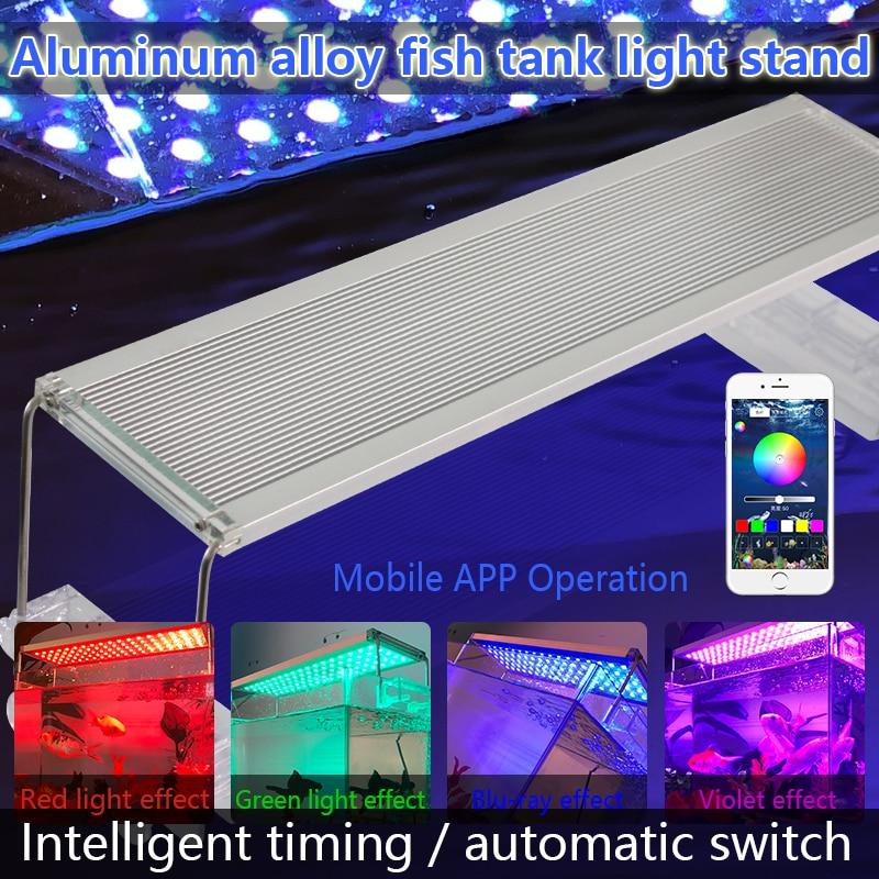 30-70CM Aluminum Aquarium Led Lighting Marine RGB SMD 5050 LED Light Fish Tank Lamp For Bracket Marin