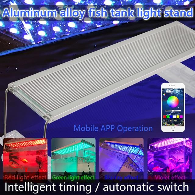 30-70CM Aluminum Aquarium Led Lighting Marine RGB SMD 5050 LED Aquarium Light Fish Tank Lamp For Aquarium LED Lamp Bracket Marin