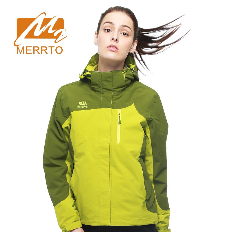 2018 Merrto Womens Outdoor Sports Jackets Waterproof Windproof Hiking Camping Jackets Blue Red For Women Free Shipping 19018 2017 merrto womens fleece hiking jackets mountain clothing thermal color blue pink rose green for women free shipping mt19155