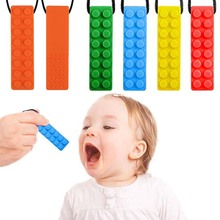 Новинка, детский силиконовый прорезыватель, молярная палочка, игрушки, сделай сам, жевательное ожерелье, инструмент для кормления, товары для матерей и детей, кусачки для карандашей