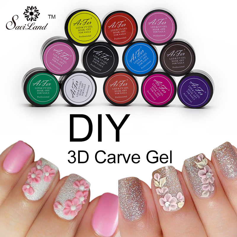 Aliexpress 12 Colour Bio Gel Nail Art Glue 3d Sculpture Carved Glitter Painting Soak Off Uv Acrylic Modelling Manicure Decor From Reliable