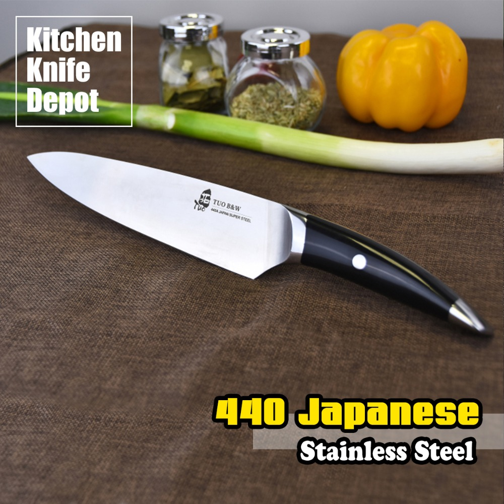 popular japanese cutlery knives buy cheap japanese cutlery knives order 1 piece tuo cutlery b w series 8 inch chef knife 440 japanese stainless steel matt black slicing kitchen
