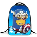 Captain America Minions Backpack Children's 5D School Bags Cute Character Boys Girls Mochila Christmas New Year Gifts Backpacks