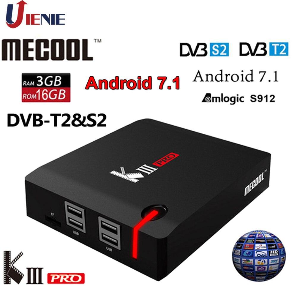 Android 7.1 TV Box KIII PRO 4K Combo DVB S2 android DVB T2 DVB C 3GB 16GB Amlogic S912 Octa core k3-in Set-top Boxes van Consumentenelektronica op  Groep 1