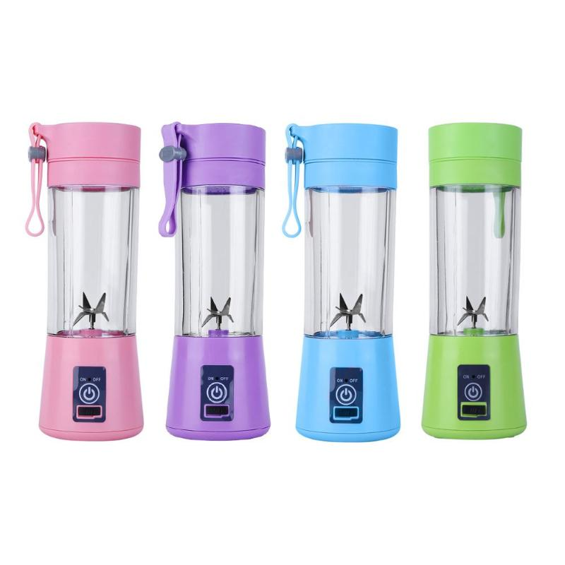 все цены на 380ml 6/4/2 Blades Mini USB Rechargeable Portable Electric Fruit Juicer Smoothie Maker Blender Machine Sports Bottle Juicing Cup онлайн