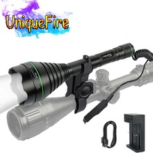 UniqueFire 1508 IR 850nm Night Vision Torch Lamp LED Light 67mm Lens Charger Mount Tail Switch