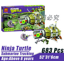 Bela 10265 Ninja Tortoise Mutant Era Submarine Track Minifigures Building Block Minifigure Toys Best Toys Compatible with Legoe