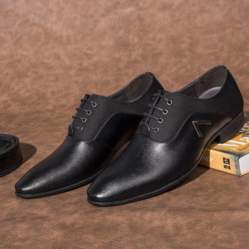 black Otoño brown Casual Zapatos De 35 Y Hecho Negocios Brown Más Oxfords X8 48 Genuino Tamaño Vestir 47 Hombres Primavera Cuero Americano wqRp51c1