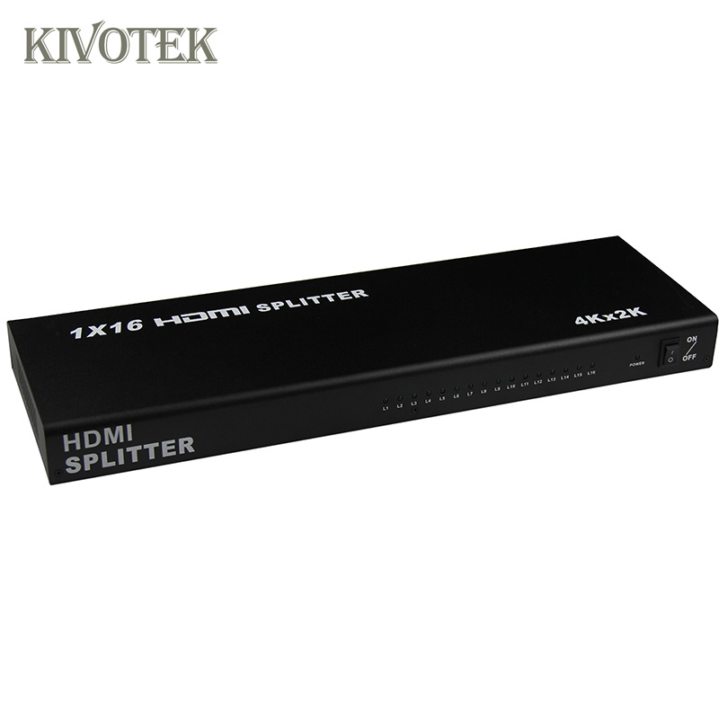 Image 4 - 1x16 4K HDMI Splitter Box 1 in 16 out,Hdmi1.4 1 to 16 ports splitter Supports DTS HD Dolby AC3/DSD For HDTV HD PlayerBest Price,-in Computer Cables & Connectors from Computer & Office