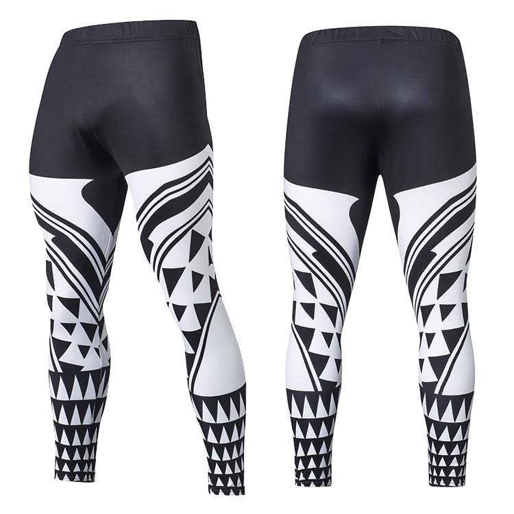 2019 Compression Pants Running Tights Men Training Pants Fitness Streetwear Leggings Men Gym Jogging Trousers Sportswear Pants 25