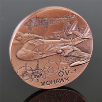 United States army OV - MOHAWK plane coin military challenge coin 5pcs/lot free shipping