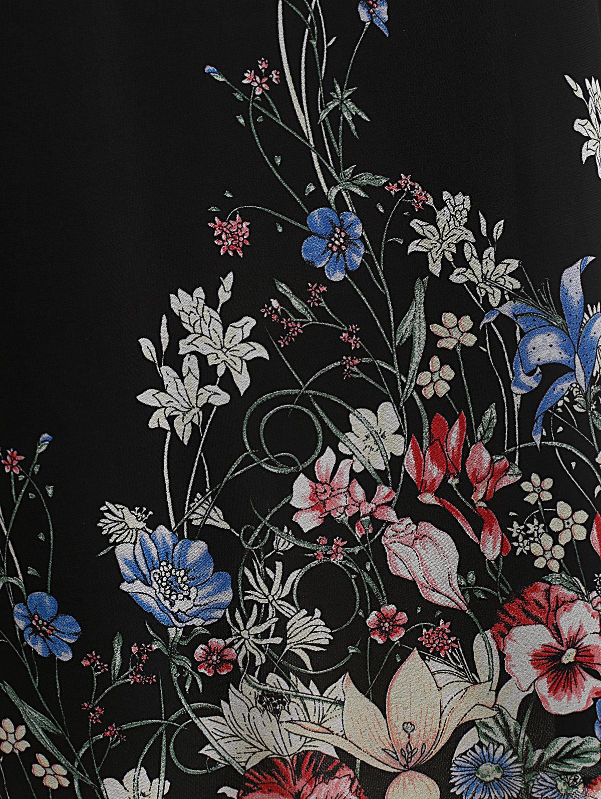 Robe grande taille à manches longues en mousseline de soie details