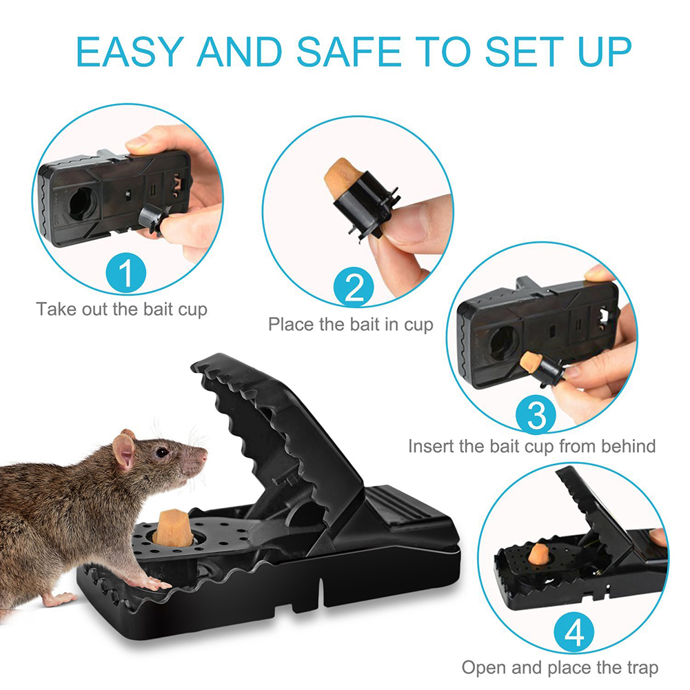 High Qulity Reusable Rat Catching Mice Mouse Trap Mousetrap Bait Snap Spring Rodent Catcher Pest Control image