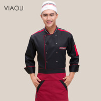 Viaoli Chef Dress Autumn And Winter Hotel Restaurant Pasta Kitchen Chef Work Clothes Long Sleeves Dress