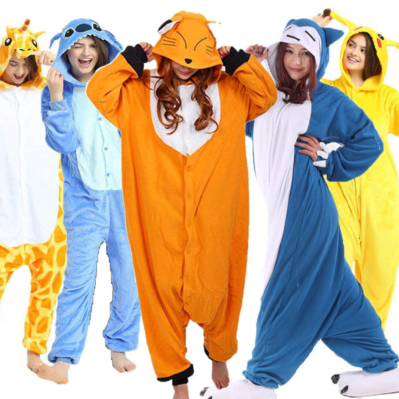 Detail Feedback Questions about Unisex Adult Fox Pajamas Sets Animal Cosplay  Stitch Snorlax Winter Onesie Hooded Sleepwear Nightie Christmas for Women  Men ... 11196b0cb