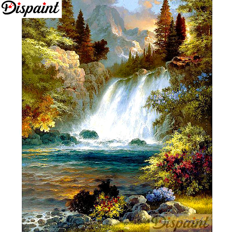 Straightforward Dispaint Full Square/round Drill 5d Diy Diamond Painting tree Waterfall Embroidery Cross Stitch 3d Home Decor A12120 Needle Arts & Crafts