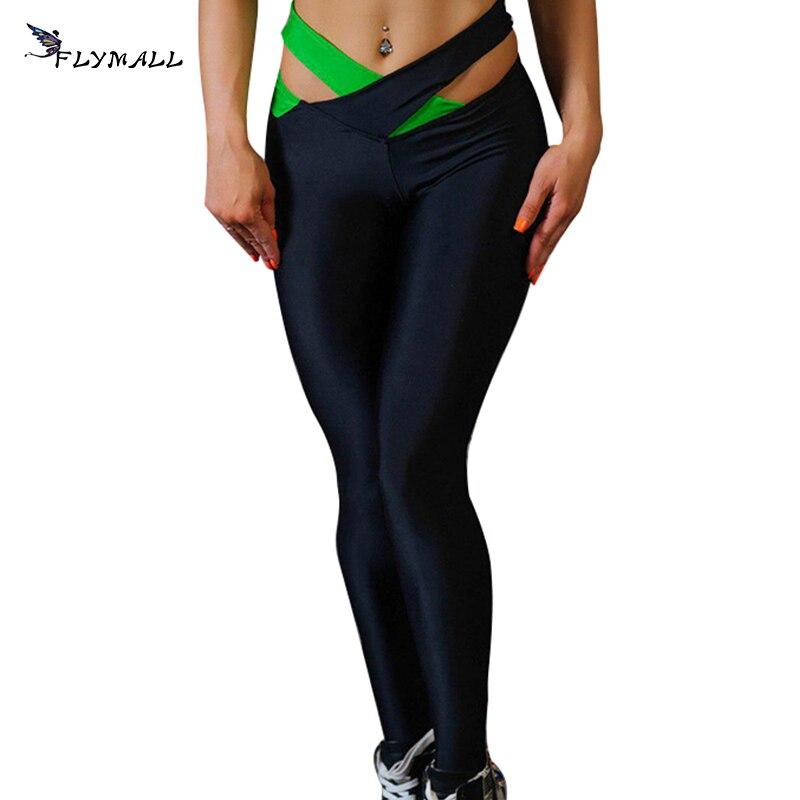 Patchwork Leggings Women 2018 Summer Push Up Fitness Legging European Cross Trousers Fitness Running Exercise Sports Yoga Pants