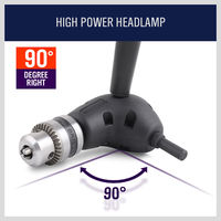 hex shank HORUSDY 90 מתאם מחזיק Socket מעלות זווית הרחבה מימין Driver קידוחים Shank מברג מגנטי 3/8 אינץ Hex Drill Bit (2)