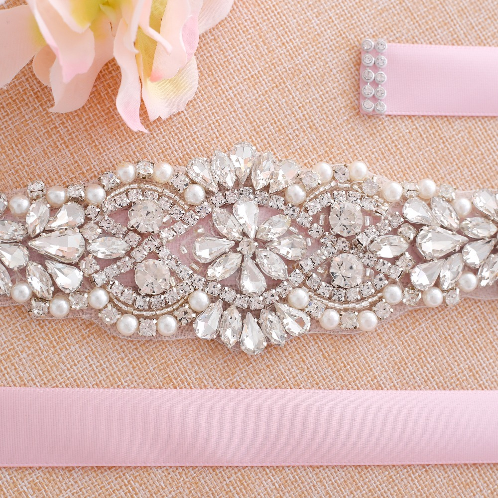 Wedding belt crystal Rhinestones Bridal Belt Silver Diamond Bridal sash For Wedding Gown vestido de pedreria J103S