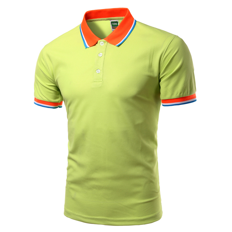 New 2017 Summer   Polo   Shirt Men Brand Solid Color Short Sleeve   Polo   Shirts Casual Stylish Breathable   Polos   Plus size