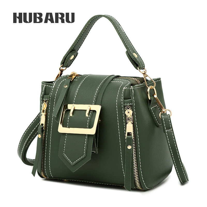 HUBARU Fashion Female Handbag Women Mini Messenger Bag Bucket Shape Bag Zipper & Hasp Crossbody Bag Small Bag Large Capacity