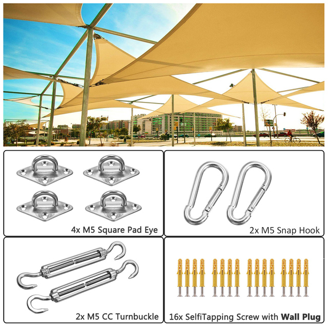 New Metal Fittings Stainless Steel Sun Sail Sun Shelter Fitting Kits Awning Special Fixed Accessories Shade Sail Accessories
