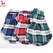Fashion Pets Plaid 100% Cotton Shirt Dog Clothes Pet Spring And Summer Clothing Red Blue Green Color Offer XS S M L High Quality